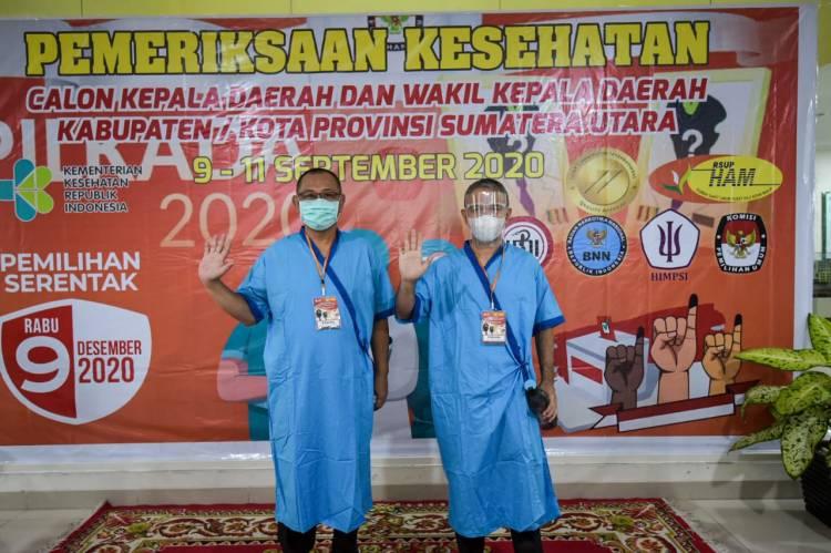 Kompak, Pasangan AMAN Hadiri Pemeriksaan Kesehatan di RSU Haji Adam Malik