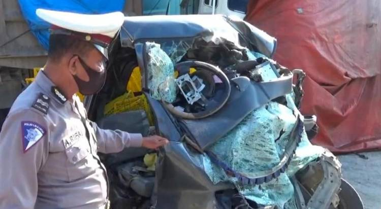 Tiga Penumpang Pick Up Tewas Usai Tabrak Truk di Jalan Tol Medan-Tebing Tinggi
