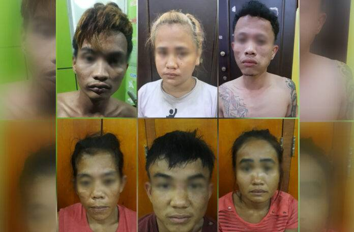 Tiga Pria, Tiga Wanita Komplotan Pencuri Becak Hantu Ditangkap Polrestabes Medan, Dua Pelaku Ditembak