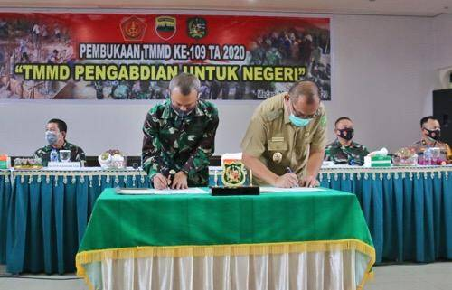 Plt Walikota Medan Buka Kegiatan TMMD ke-109 TA 2020 di Wilayah Kodim 0201/BS