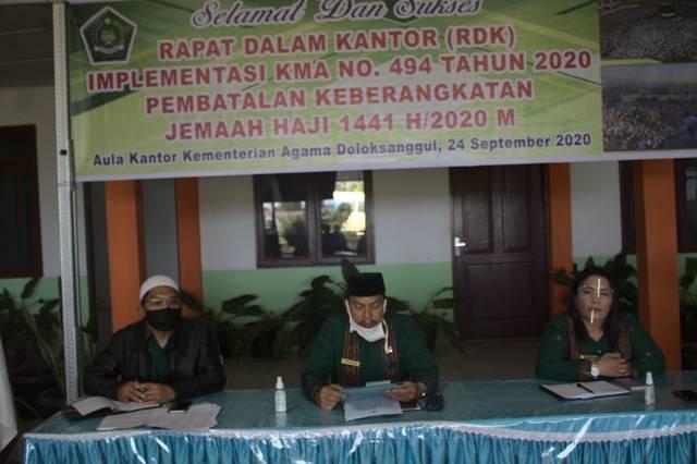 Kepala Kantor Kemenag Humbahas Buka RDK Implementasi KMA 494 Tahun 2020