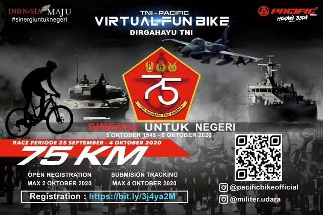 TNI dan Pacific Bike Gelar Lomba Bersepeda Virtual, Rayakan HUT TNI ke-75 Tahun 2020