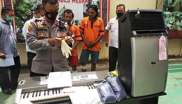 Dua Pencuri Bongkar Ruko di Pasar III Medan Timur Ditembak Polisi