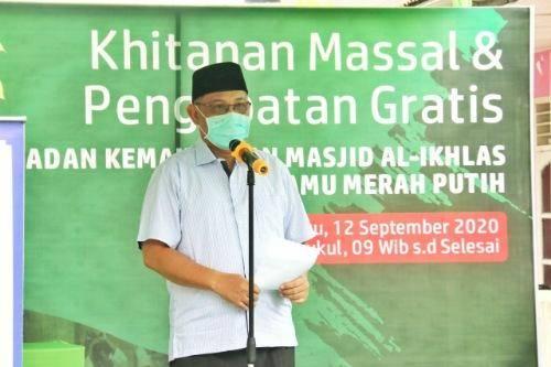 Akhyar Nasution Apresiasi Khitanan Massal dan Berobat Gratis dari Arrahman Wisata dan RS Royal Prima