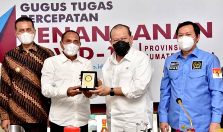 Ketua DPD RI Kunjungi Sumut, Gubernur Edy Rahmayadi Sampaikan Sengketa Tanah di Sumut Selesai 30% Tahun Ini