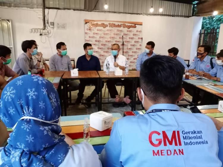 Relawan Milenial Sandiaga Uno Diskusi Tentang Kota Bersama Akhyar