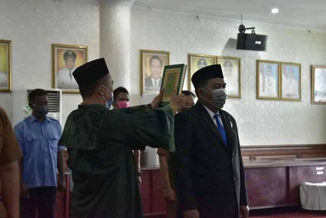 Lantik Dirut PDAM Tirta Kualo, Walikota Tanjungbalai Minta Ada Perubahan dan Inovasi