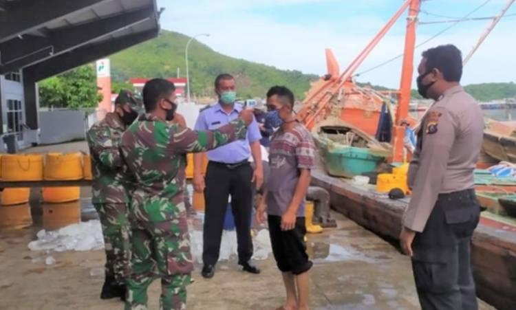 Operasi Yustisi di Pelabuhan, Sat Pol Air Polres Sibolga Razia Masker