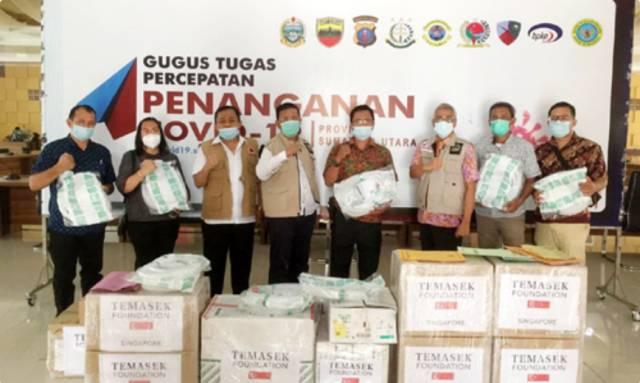 GTPP Covid-19 Bagikan Bantuan 12 Ventilator dari Temasek Foundation Singapore ke Rumah Sakit di Sumut
