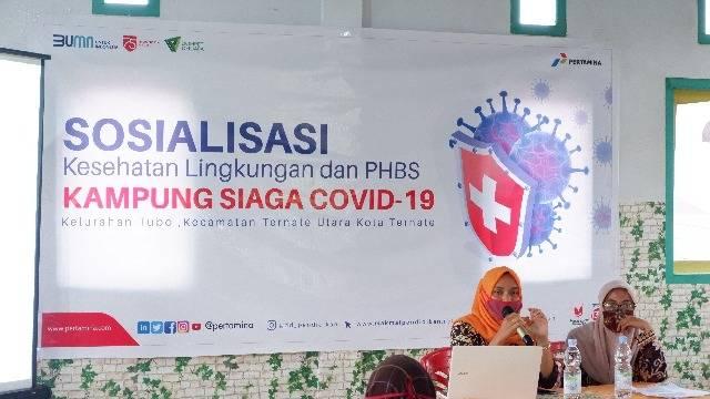 Pertamina, Dinkes, dan Dompet Dhuafa Pendidikan Sosialisasi PHBS di Ternate, Jadi Kampung Siaga Covid-19