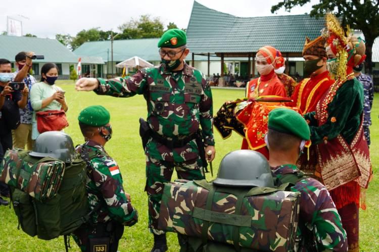 Pangdam I/BB Pimpin Upacara Penyambutan Yonif 133/Yudha Sakti Purna Tugas Satgas Pamtas RI-Malaysia Tahun 2019