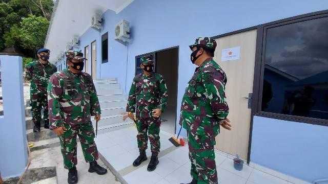 Pangkogabwilhan I Beserta Tim Irjen TNI Tinjau Kesiapan Sarpras Perkantoran Makogabwilhan I di Dompak Tanjung Pinang