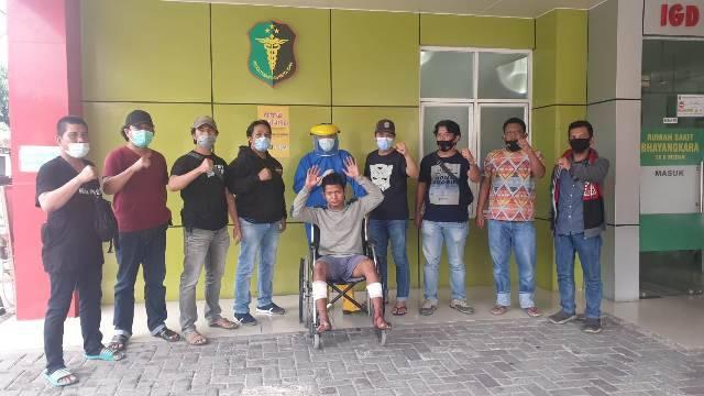 Unit Jahtanras Polrestabes Medan Tembak Komplotan Perampok Sepeda Motor di Jalan Ladang Ujung Johor