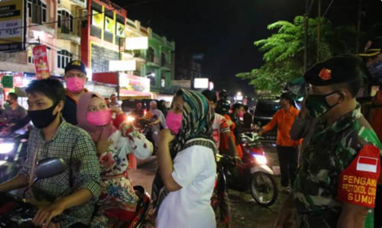 Pimpin Operasi Yustisi di Marelan, Azhar Terkejut Kawasan Ini Tertinggi Pelanggaran Tak Pakai Masker