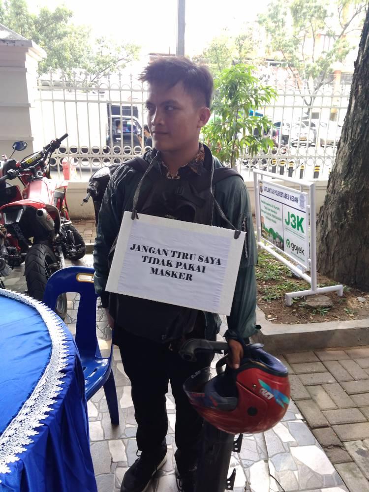 Razia Masker di Lapangan Merdeka, Sejumlah Pengendara Dikenakan Sanksi