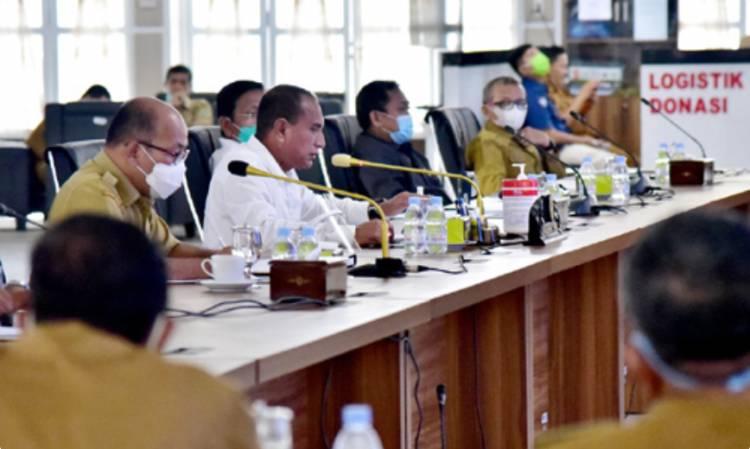 Gubernur Gelar Pertemuan Camat dan Lurah se-Kota Medan, Ingatkan Warga Terapkan Protokol Kesehatan