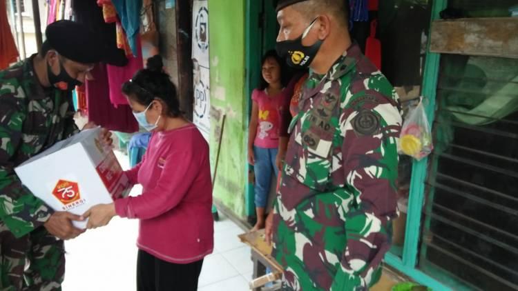 Kogartap II dan III Gelar Baksos HUT ke-75 TNI
