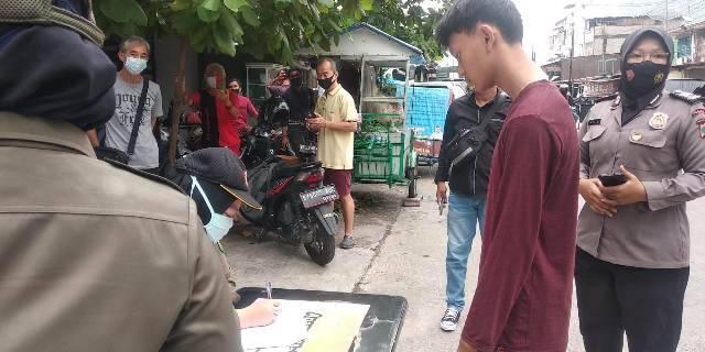 Tak Pakai Masker dengan Benar, Polsek Medan Timur Stop Pengendara Saat Operasi Yustisi