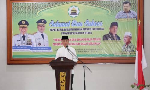 Buka Rakerwil DMI Sumut, Wagub Ingin Masjid Bangkitkan Ekonomi Umat