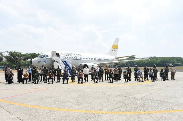 Kasum TNI Tinjau Latihan Penanganan Force Down Pesawat Udara Asing di Lanud Halim Perdanakusuma