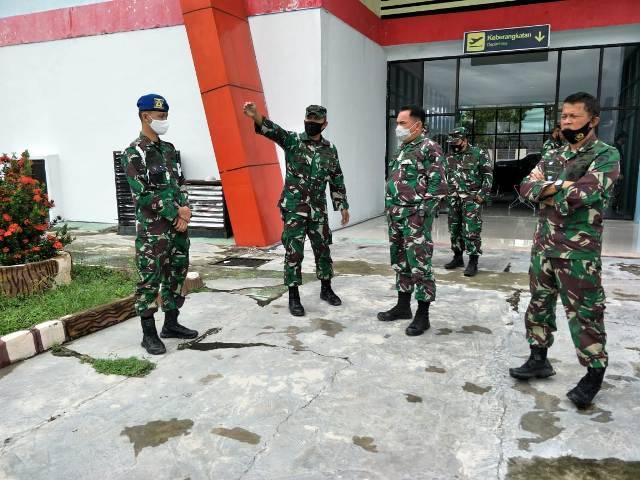 Waaspotwil Kogabwilhan II Tinjau Lokasi Baksos HUT ke-75 TNI di Masamba