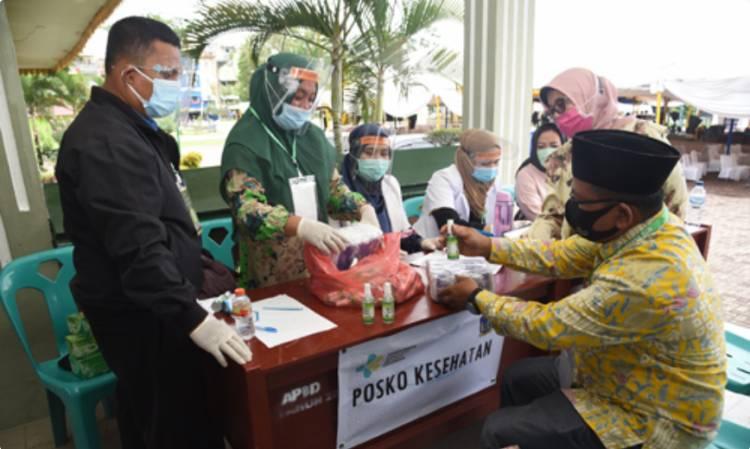 MTQ ke-37 Sumut, 1.157 Kafilah Terima Masker dan Hand Sanitizer dari LPTQ Sumut