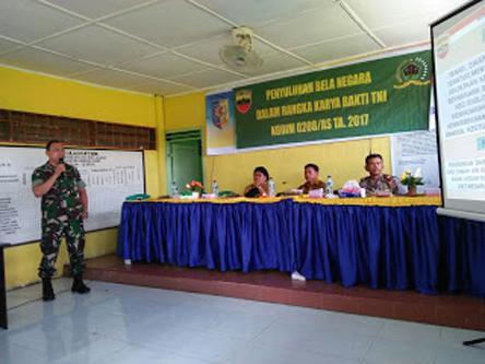 Kodim 0208/AS Beri Penyuluhan Bela Negara dan Bahaya Narkoba di Desa Lalang