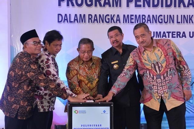 Menteri Perindustrian Luncurkan Program Pendidikan Vokasi Industri SMK se-Sumbagut