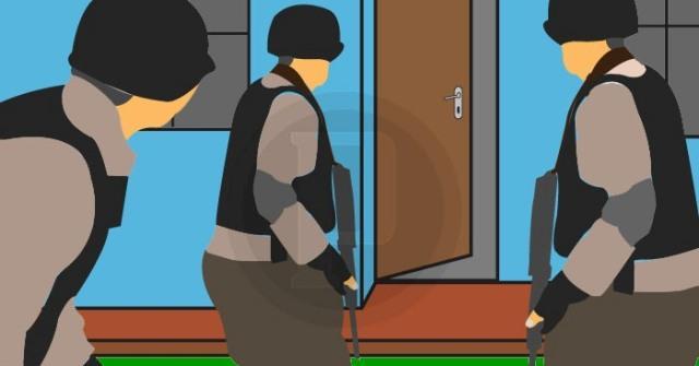 Polisi Grebek Salah Satu Rumah Warga di Komplek Metropolis J City