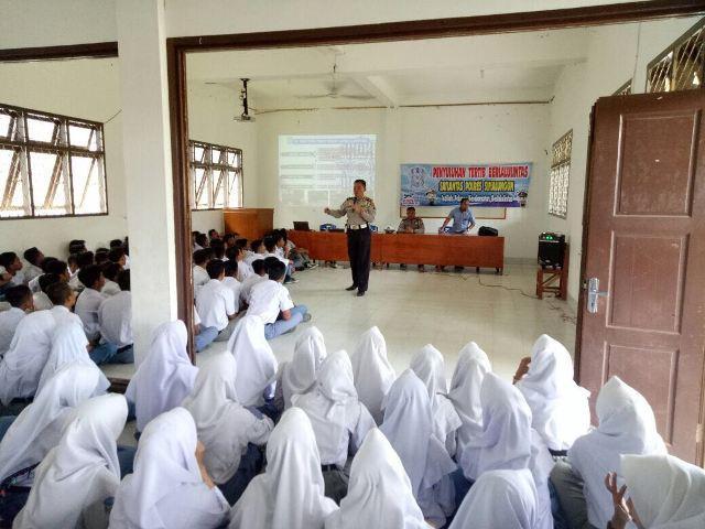 Satlantas Polres Simalungun Sosialisasi Tertib Lalulintas ke Sekolah