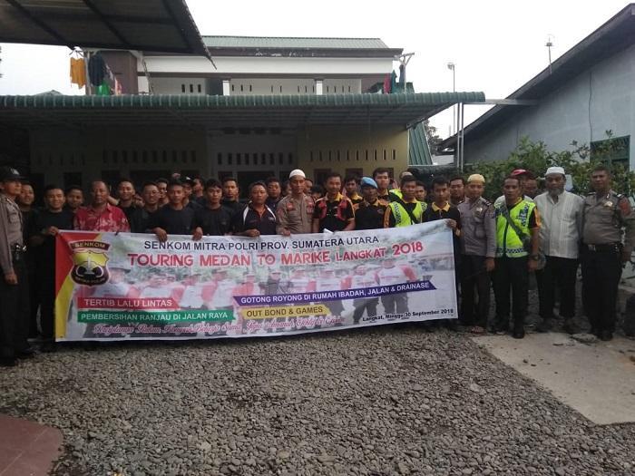 Wakapolsek Medan Helvetia Amankan Touring Marike II, Giat Baksos 2018