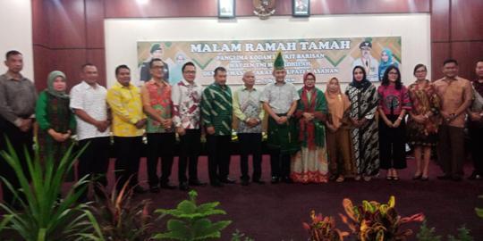 Danrem 022/PT Dampingi Pangdam l/BB Silaturahmi ke Asahan