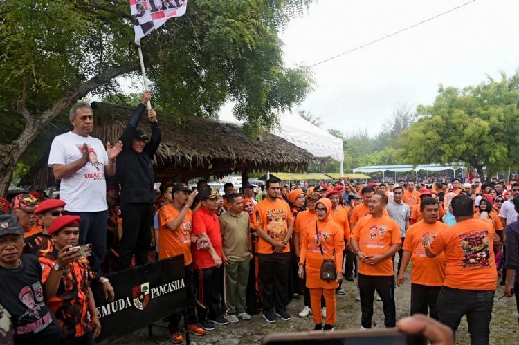 Jalan Sehat Bersama Ormas PP di Sergai, Gubernur Minta Pancasila Harus Kuat