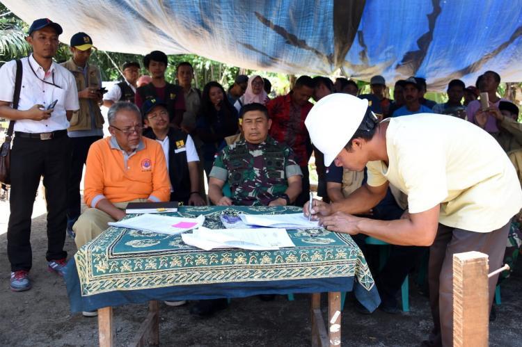 Panglima Kogasgabpad: Kontrak Kerja Sama Pokmas dan Aplikator Risha Percepat Pembangunan Rumah Warga Lombok