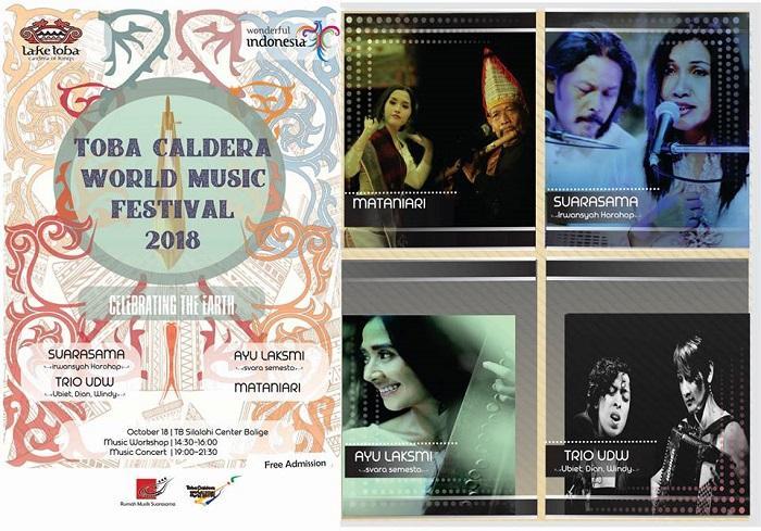 Toba Caldera World Music Festival 2018, Dibuka Kamis 18 Oktober di Balige
