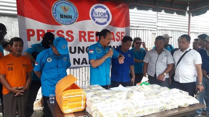 50 Kg Sabu Tangkapan BNN Ternyata Diselundupkan dari Malaysia Lewat Pelabuhan Tanjungbalai