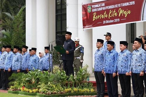 Upacara Sumpah Pemuda, Plt Walikota Medan Ajak Pemuda Jaga Kebersihan Kota