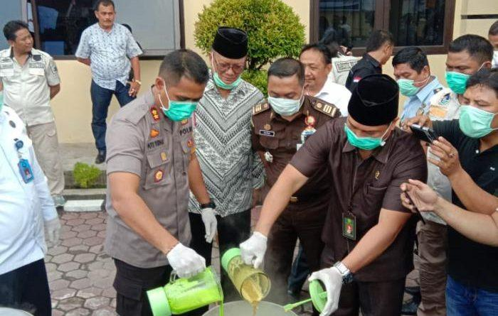 18,88 Kilo Sabu dan 9.840 Butir Pil Ekstasi Dimusnahkan Polres Tanjungbalai