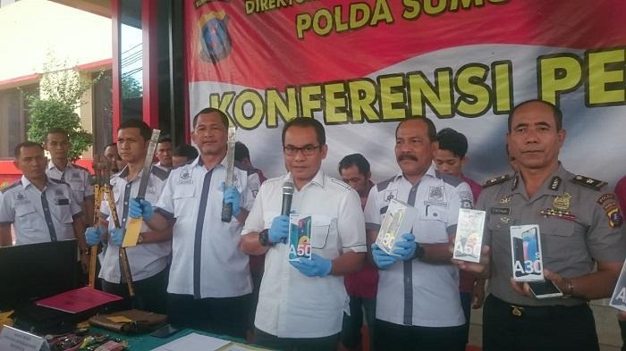 Polda Sumut Bongkar Sindikat Perampokan Toko Handphone Union di Ringroad, Dua Pelaku Ditembak