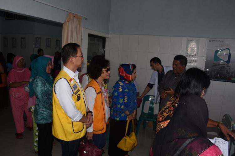 TP PKK Deli Serdang dan Lions Club Medan Seruni Mengadakan Bhakti Sosial Pemeriksaan Kesehatan Gratis