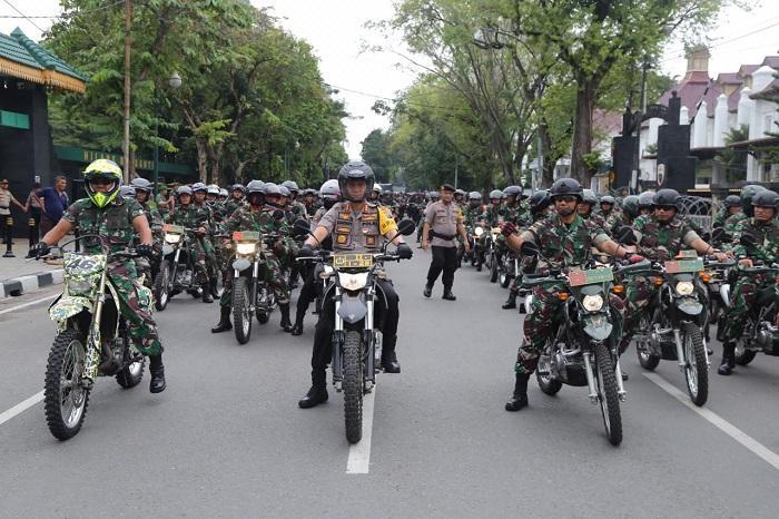 Besok Pelantikan Presiden, Polrestabes Medan dan Kodim 0201/BS Patroli Bersama