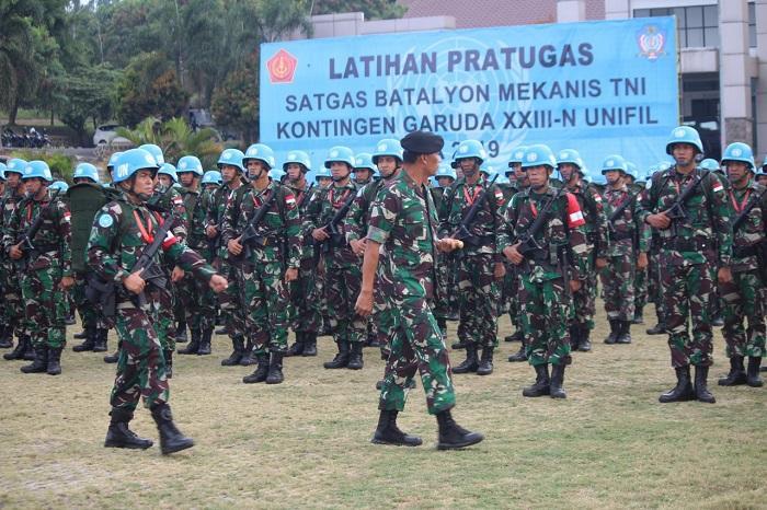 Satgas Batalyon Mekanis TNI Siapkan Kontingen Garuda XXIII-N UNIFIL TA 2019