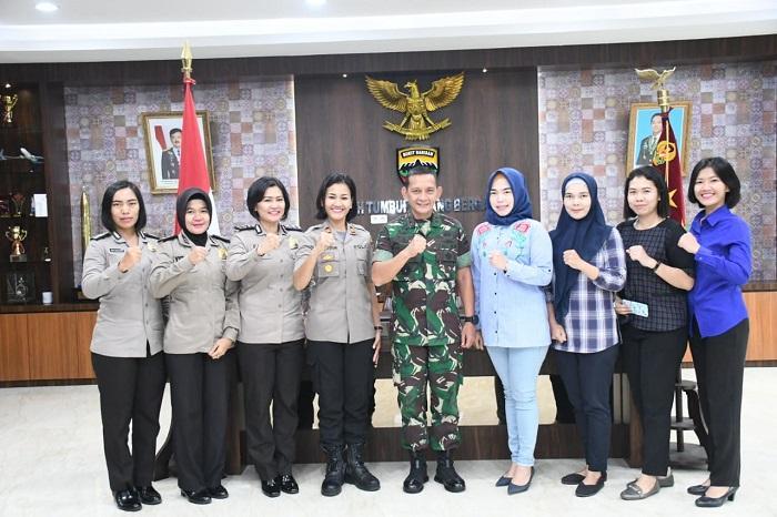 Kapolsek Helvetia Sambangi Kodam I/BB, Jaga Sinergitas TNI dan Polri