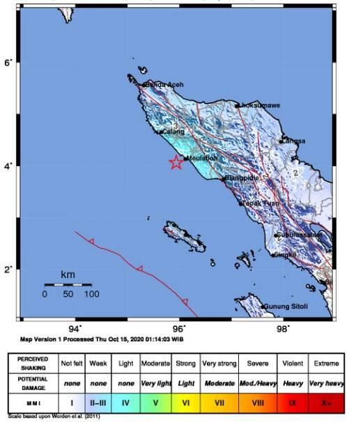 Warga di Aceh Rasakan Guncangan Gempa M 5,2