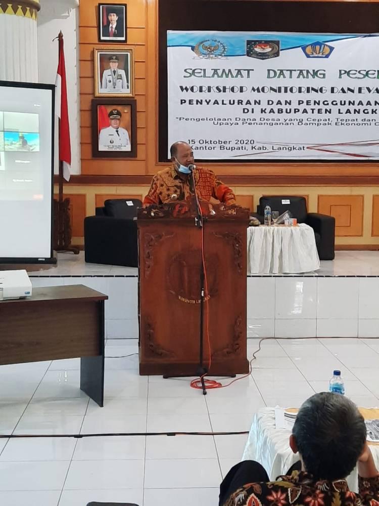 BPKP Provsu dan Pemkab Langkat Gelar Workshop Penggunaan Dana Desa