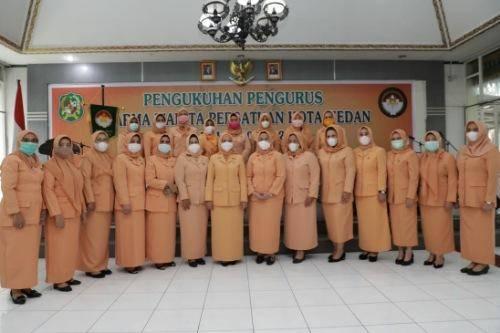 Pengurus Dharma Wanita Persatuan Kota Medan Masa Bakti 2019-2024 Dikukuhkan