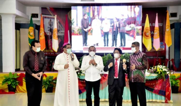 Gubernur Sumut Kuliah Umum di Unika Santo Thomas, Edy Rahmayadi: Tanamkan Nilai Kebangsaan pada Mahasiswa