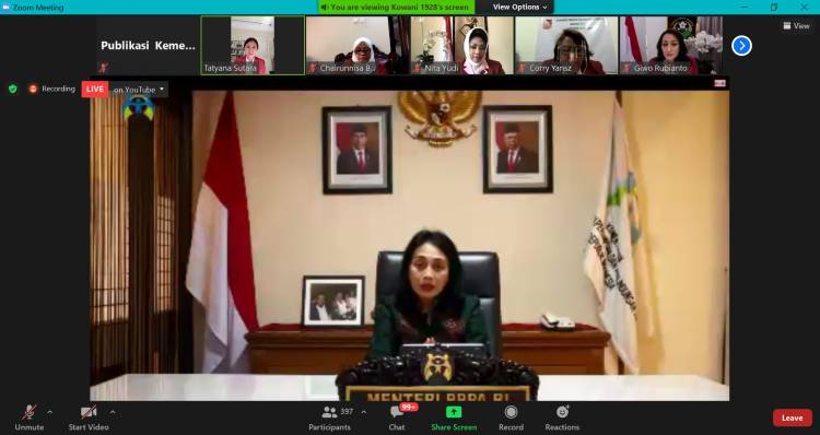 Menteri Bintang Dorong Keterlibatan Perempuan Kawal Pilkada Serentak 2020