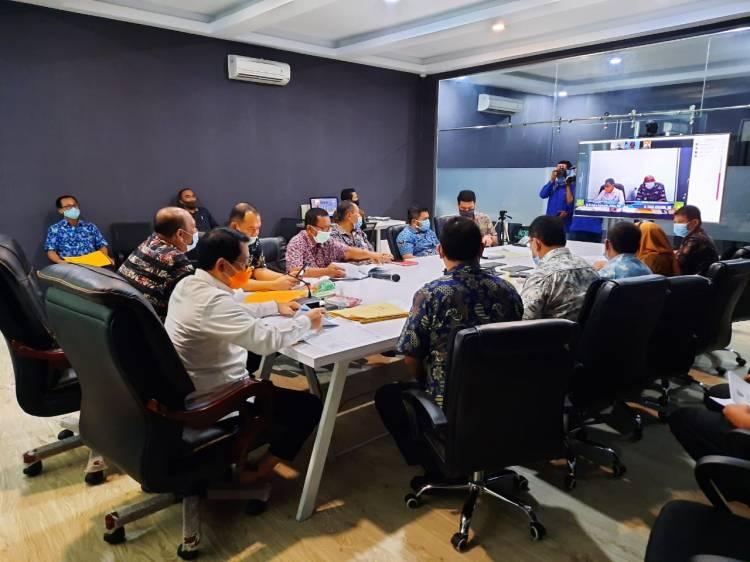 Pemkab Langkat Rapat Monitoring Pencegahan Korupsi dengan KPK RI secara Virtual