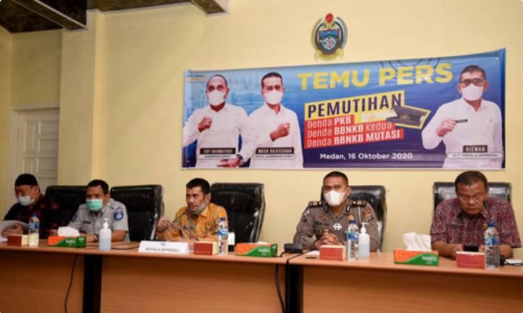 Pemutihan Denda PKB dan BBNKB dari Pemprov Sumut Dibuka Mulai 19 Oktober Sampai 14 November 2020